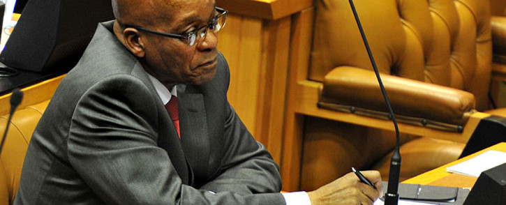 FILE:President Jacob Zuma told Members of Parliament to lead by example and show respect to the house. Picture: GCIS.