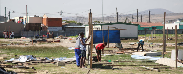 FILE: The City of Cape Town said most illegal land occupations occurred in areas that were never meant for human settlement, such as road reserves and wetlands. Picture: EWN