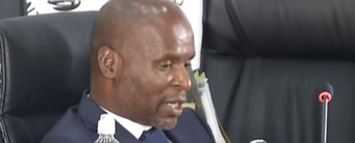 A screengrab of former Denel chairperson Dan Mantsha giving evidence at the state capture inquiry on 26 March 2021. Picture: SABC/YouTube