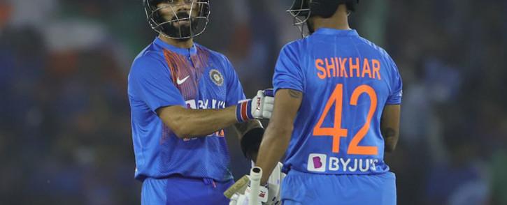 India's Virat Kohli and Shikhar Dhawan. Picture: @BCCI/Twitter