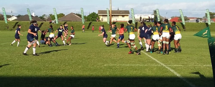 The Springbok Women play the Scotland women's rugby team at City Park in Cape Town on 30 September 2019. Picture: Ayanda Felem/EWN
