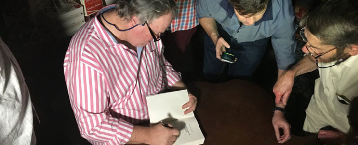 Author Jacques Pauw at the launch of his book 'The President's Keepers'. Picture: Hitekani Magwedze/EWN