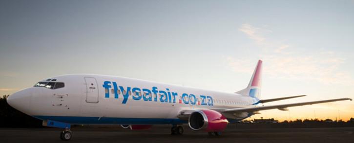 FILE: A FlySafair plane. Picture: @FlySafair/Twitter.