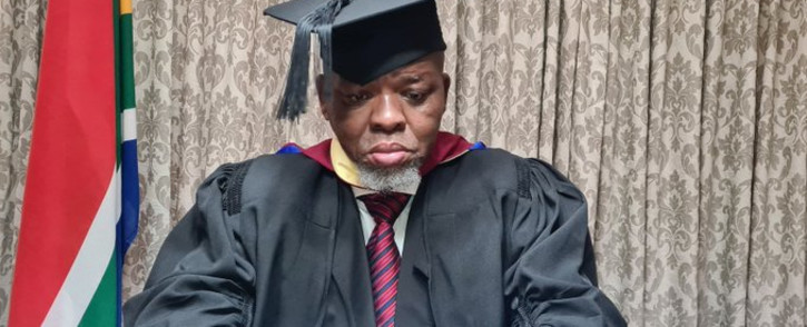 Mineral Resources and Energy Minister Gwede Mantashe graduated (MBA) at virtual ceremony on 05 June 2021. Picture: Twitter/@CyrilRamaphosa