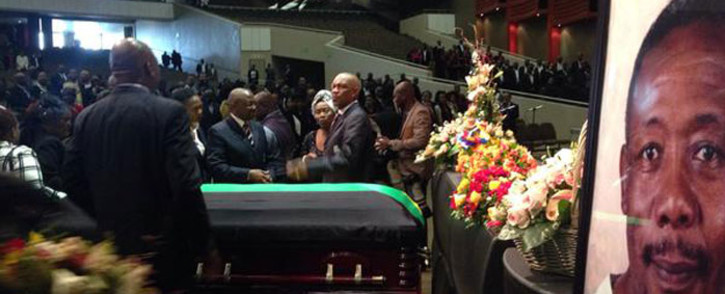 Late former police commissioner Jackie Selebi's funeral service at the Dutch Reform Church Moreletta Park. Picture: Vumani Mkhize/EWN.