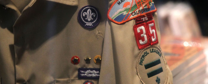FILE: A Boy Scout uniform hangs in a store at the Marin Council of the Boy Scouts of America. Picture: AFP