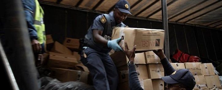 Counterfeit goods confiscated in Johannesburg CBD on 06 August 2019.Picture: Sethembiso Zulu/EWN