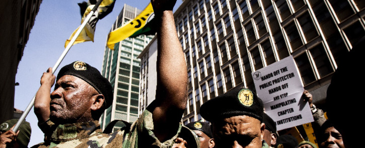 Members of the Umkhonto we Sizwe Military Veterans Association march to Luthuli House. Picture: Kayleen Morgan/EWN
