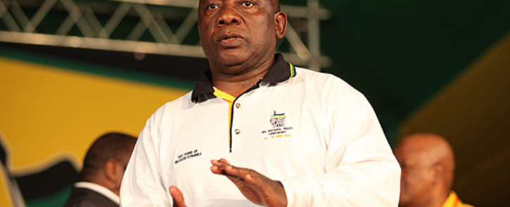 ANC Deputy President Cyril Ramaphosa issued a stern warning to opposition parties at the ANC's Gauteng election manifesto in Atteridgeville, Pretoria, on Sunday 19 January 2014. Picture: Taurai Maduna/EWN.