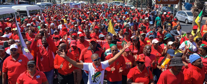 FILE: Cosatu is organising national mass protests for next week. Picture Kaylynn Palm/EWN