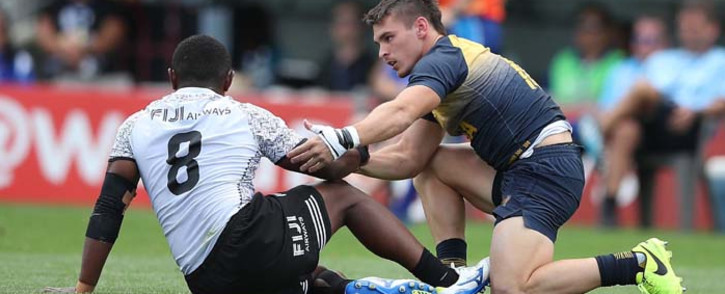 Fiji, the defending champions in New Zealand and who won the last round in South Africa, notched a half-century of points when they beat Wales 54-7 in their opener. Picture: @WorldRugby7s/Twitter.