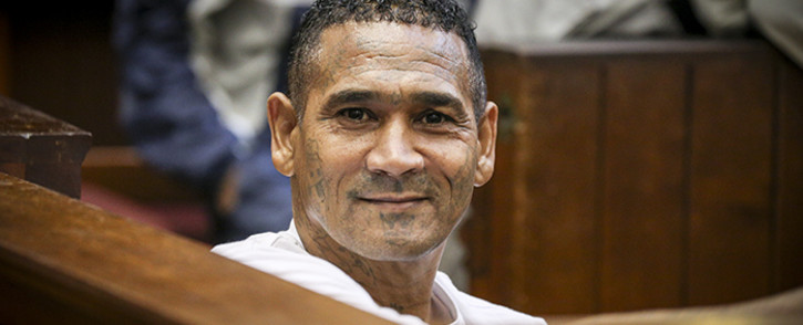 'Geweld' and 17 others appeared at the Western Cape High Court facing 166 charges including murder, attempted murder and conspiracy to commit murder. Picture: Thomas Holders/EWN.