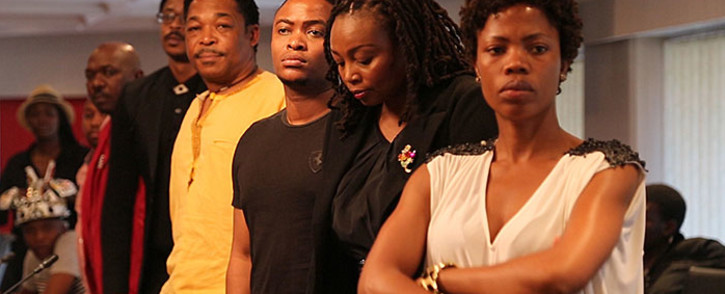 Some of the Generations cast at the boycott meeting. Picture: Sebabatso Mosamo/EWN.