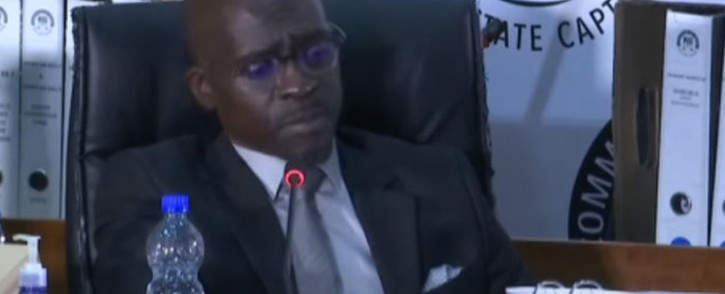 A screengrab of former Cabinet minister Malusi Gigaba appearing at the state capture inquiry on 27 May 2021. Picture: SABC/YouTube