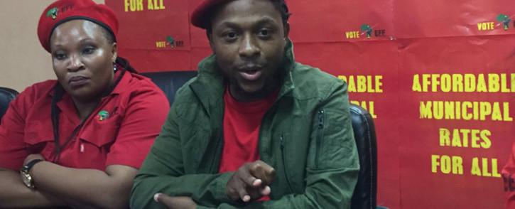 Economic Freedom Fighters spokesperson, Mbuyiseni Ndlozi. Picture: Clement Manyathela/EWN