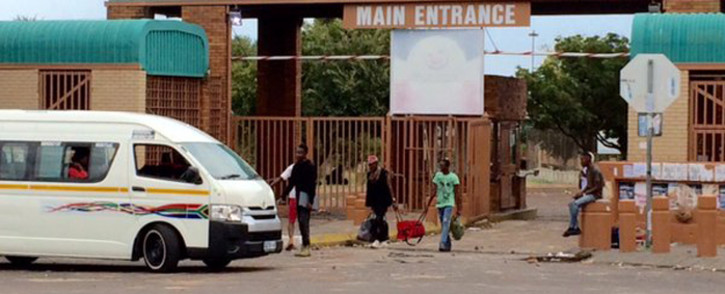 A group of students at the Tshwane University of Technology (TUT)'s Soshanguve campus are demanding an end to financial exclusion, the immediate implementation of free education and the insourcing of services on 8 March 2016. Picture: Barry Bateman/EWN
