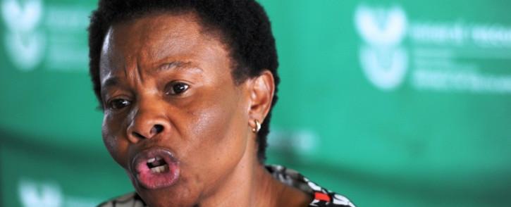 FILE: Former Mineral Resources Minister Susan Shabangu. Picture: Sapa.