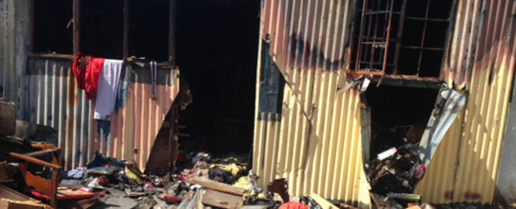 FILE: Paramedics said two people, both in their 70s, sustained severe burns following the shack fire in Munsieville. Picture: Lauren Isaacs/EWN.