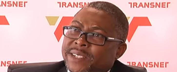 A screengrab of Transnet CEO Siyabonga Gama. Picture: YouTube
