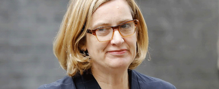 FILE: Britain's former Secretary Amber Rudd arriving at 10 Downing Street in central London. Picture: AFP.