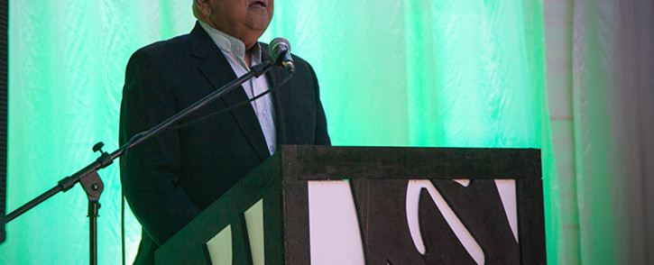 Finance minster Pravin Gordhan speaking at the Ahmed Kathrada foundations Banquet on Heritage day.Picture: Kgothatso Mogale/EWN