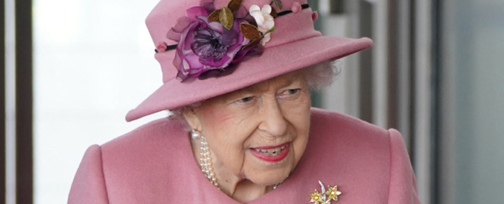 FILE: In this photo taken on 14 October 2021 Britain's Queen Elizabeth II attends the ceremonial opening of the sixth Senedd, in Cardiff, Wales. Picture: Jacob King/AFP