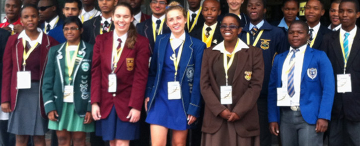 Some of the 25 top achieving matrics in South Africa for 2013. Picture: Reinart Toeroien/EWN