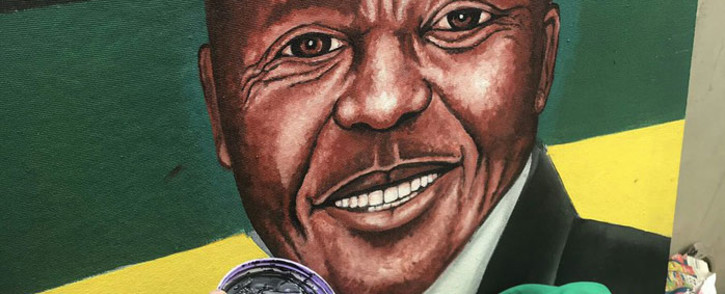 Rasta paints President Cyril Ramaphosa. Picture: Twitter