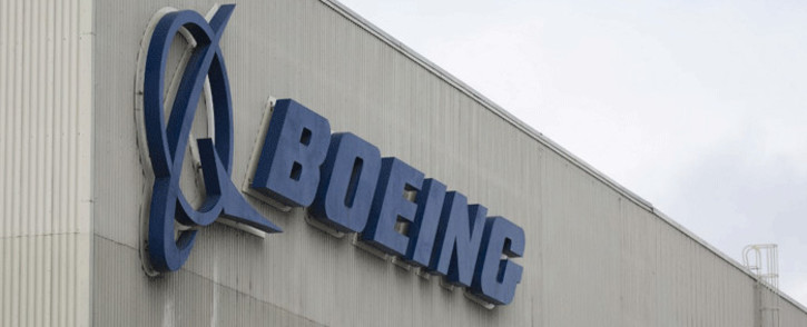 In this file photo taken on March 12, 2019 the Boeing logo is pictured at the Boeing Renton Factory in Renton, Washington. Picture: AFP.
