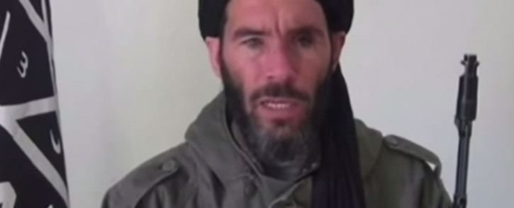 A screebgrab shows a picture of a veteran Islamist militant, Mokhtar Belmokhtar, blamed for masterminding an Algerian gas field attack and running smuggling routes across North Africa.