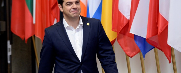 The Prime Minister of Greece Alexis Tsipras leaving at the end of a special EU Euro Summit about the Greek crisis. Picture: AFP