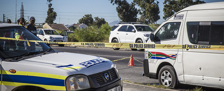 The bullet-ridden taxi in Blue Downs after police mistakenly opened fire on it, killing two of the occupants. Picture: Thomas Holder/EWN