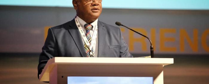 Cape Town mayor Dan Plato addresses delegates at this year's World Travel Market Africa conference. Picture: @wtmafrica/Facebook.com.