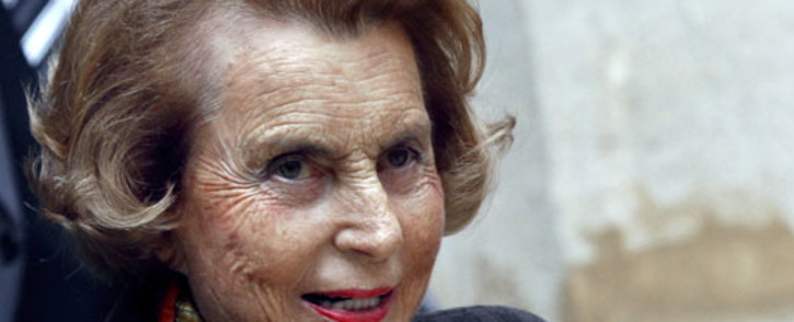 French billionaire and L'Oreal heiress Liliane Bettencourt. Picture: AFP