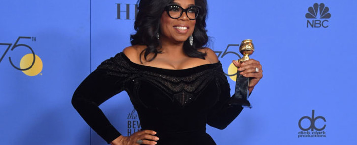 Oprah Winfrey poses with the Cecil B. DeMille Award during the 75th Golden Globe Awards on 7 January 2018, in Beverly Hills, California. Picture: AFP