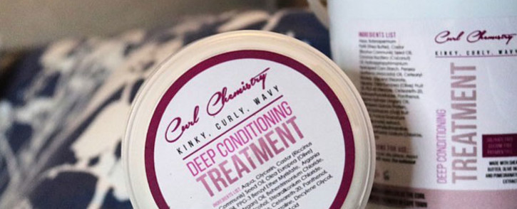 Hair care products from Curl Chemistry. Picture: @curlchemistry/Facebook