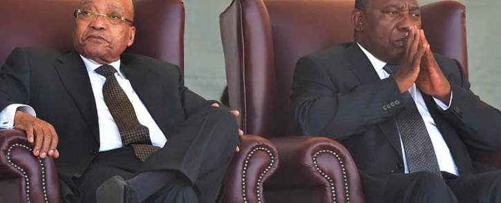 FILE: Former President Jacob Zuma (left) and President Cyril Ramaphosa (right). Picture: GCIS
