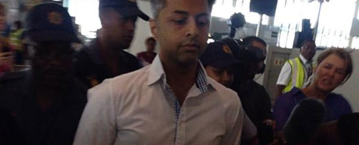 Shrien Dewani at Cape Town International Airport on his way home on 9 December 2014. Picture: Rahima Essop/EWN