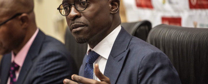 FILE: Finance Minister Malusi Gigaba at a briefing. Picture: AFP.