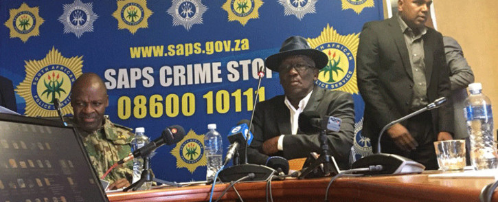 Police Minister Bheki Cele giving an update on the progress made by the inter-ministerial committee set up by President Cyril Ramaphosa to investigate political killings in KZN. Picture: Ziyanda Ngcobo/EWN