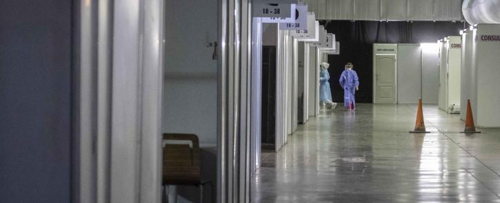 Inside the Nasrec Field Hospital in Johannesburg. Picture: Abigail Javier/Eyewitness News