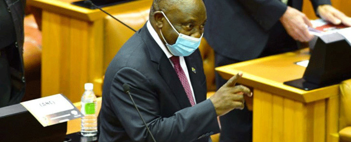 FILE: President Cyril Ramaphosa in Parliament. Picture: GCIS
