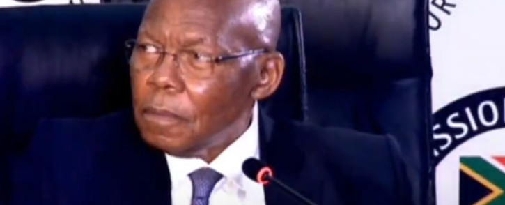 A screengrab of former Eskom board chairperson Ben Ngubane appearing at the state capture inquiry on 11 September 2020. Picture: SABC/YouTube