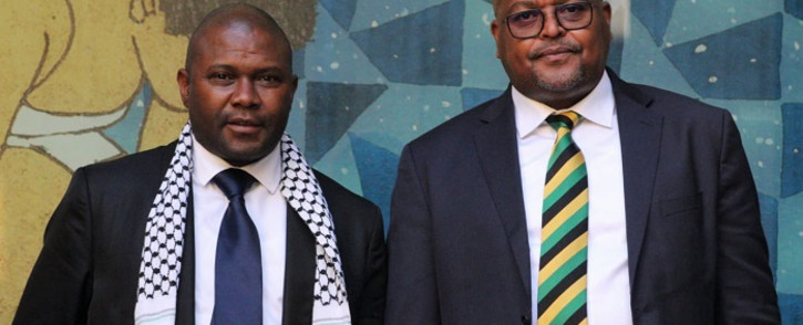 Late Joburg Mayor Jolidee Matongo (L) and Johannesburg MMC for Environment and Infrastructure Services Mpho Moerane (R). Picture: Mpho Moerane/Twitter.