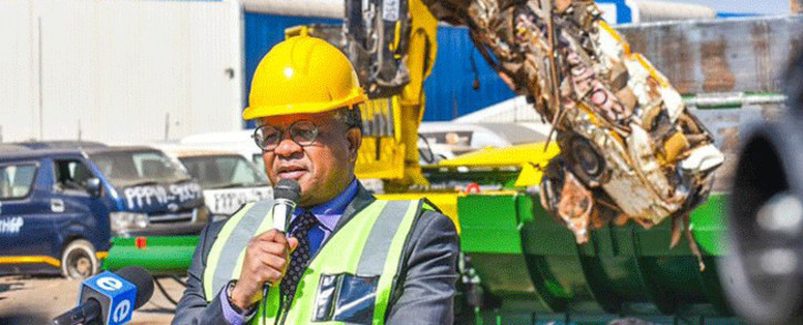 Transport Minister Fikile Mbalula. Picture: @DoTransport/Twitter.