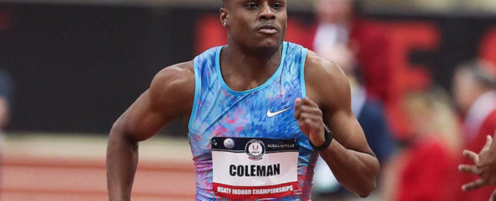 US sprinter Christian Coleman. Picture: @iaaforg/Twitter