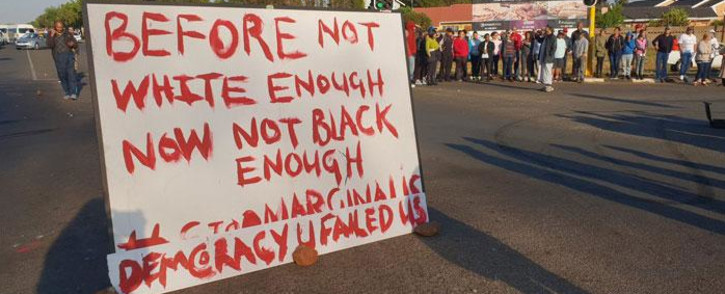 FILE: Ennerdale residents protest on 5 October 2018. Picture: Louise McAuliffe/EWN