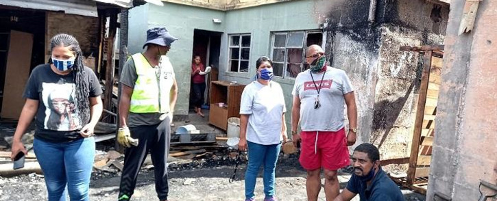 The municipality is in the process of issuing food parcels and blankets to the affected residents. Picture: Supplied
