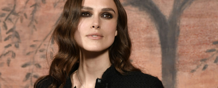 British actress Keira Knightley poses during the photocall before the Chanel Croisiere (Cruise) fashion show on 3 May 2017 at the Grand Palais in Paris. Picture: AFP.