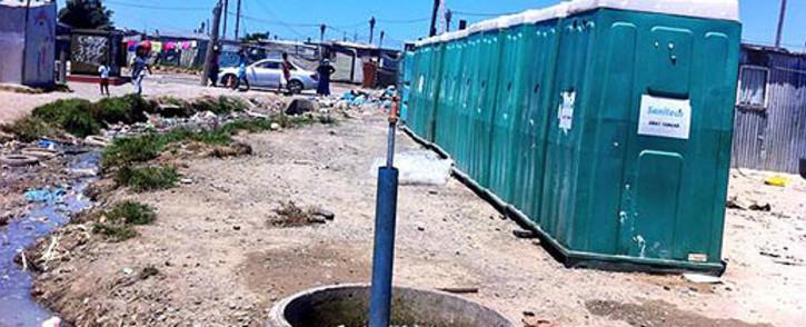 Communal toilets in Kosovo, Cape Town. Picture: Siyabonga Sesant/EWN